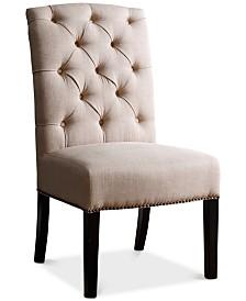 Lorainne Linen Dining Chair, Quick Ship