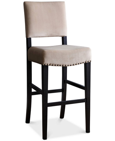 Closeout! Lacey Velvet Bar Stool, Quick Ship