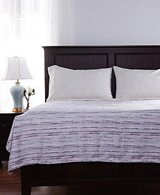 Berkshire VelvetLoft Brushed Stripe Plush Blanket
