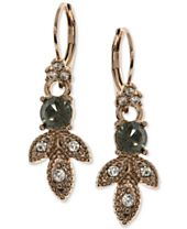 Marchesa Gold-Tone Pavé & Colored Stone Drop Earrings
