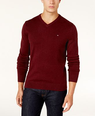 Tommy Hilfiger Men's Pima Cotton Cashmere Blend Sweater - Sweaters ...