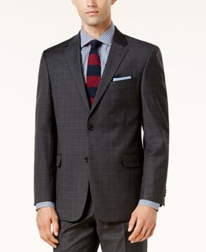 Tommy Hilfiger Men's Th Flex Performance Gray Plaid Suit Jacket thumbnail