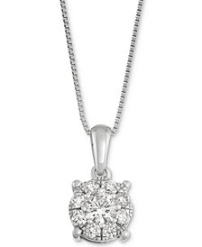 Diamond Pendant Necklace in 14k White Gold (1/2 ct. t.w.)