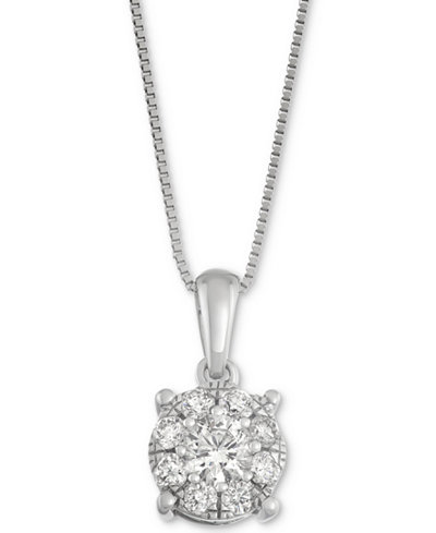 Diamond pendant necklace in 14k white gold 12 ct tw diamond pendant necklace in 14k white gold 12 ct tw mozeypictures Gallery