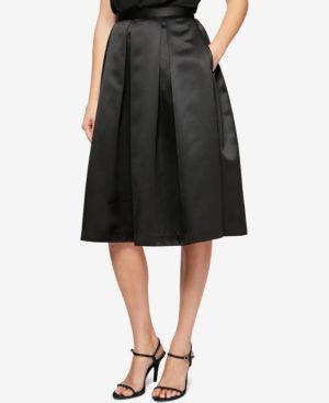 Alex Evenings Pleated Satin A-Line Skirt thumbnail