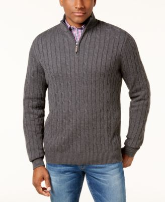 gray mock neck chenille sweater - Macy's