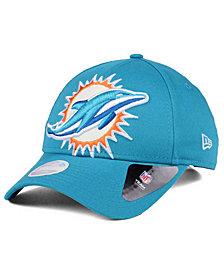 New Era Women's Miami Dolphins Glitter Glam 9TWENTY Strapback Cap