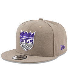 New Era Sacramento Kings Tan Top 9FIFTY Snapback Cap