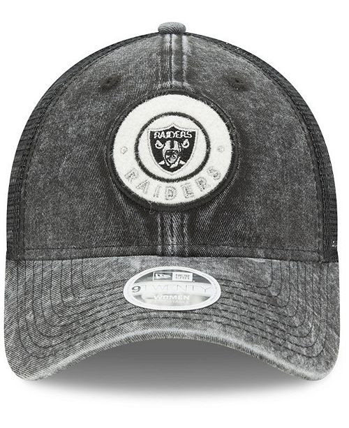e420eca5e7074 ... czech new era. womens oakland raiders perfect patch 9twenty snapback cap.  be the first