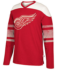 Men's Detroit Red Wings Appliqué Crew Long Sleeve T-Shirt