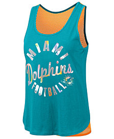 Touch By Alyssa Milano Women's Miami Dolphins Fair Catch Tank