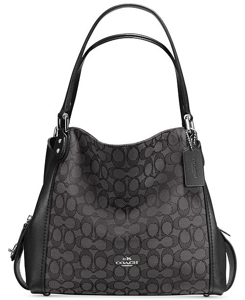 6af4964a67 COACH Signature Edie Shoulder Bag 31 in Signature Jacquard   Reviews ...
