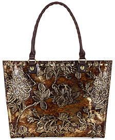 Patricia Nash Metallic Leather Zancona Tote, Created for Macy's
