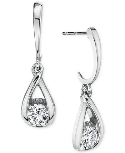 Sirena Diamond Drop Earrings (1/3 ct. t.w.) in 14k White Gold