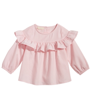 First Impressions Cotton Flounce Top Baby Girls (024 months) Created for Macys
