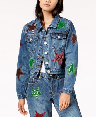 by Glamorous Cotton Patched Trucker Jacket, Created for Macy's