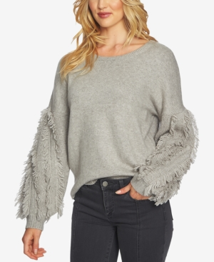1.state  FRINGED-SLEEVE SWEATER