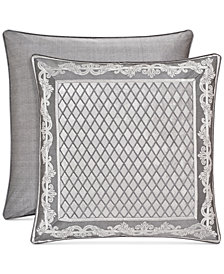 J Queen New York Bel Air Tufted-Chenille Silver European Sham