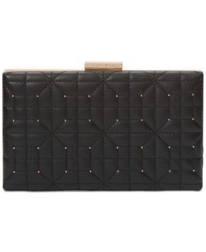 Calvin Klein  QUILTED SMALL BOX CLUTCH