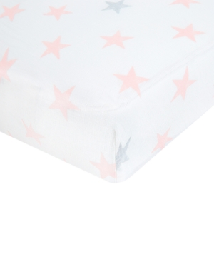 aden by aden  anais Cotton Doll Printed Crib Sheet Baby Girls (024 months)