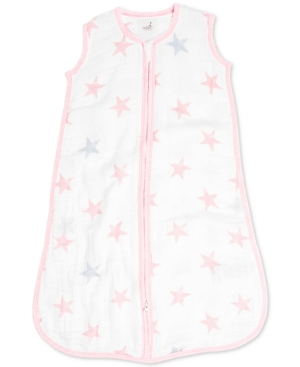 Aden By Aden + Anais Baby Girls Doll Cotton Printed Sleeping Bag In Pink