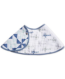aden by aden + anais Cotton Sky High Printed Burpy Bib, Baby Boys
