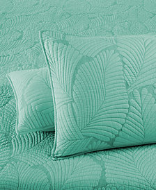 Martha Stewart Collection  100% Cotton Atlantic Palm Standard Sham, Created for Macy's