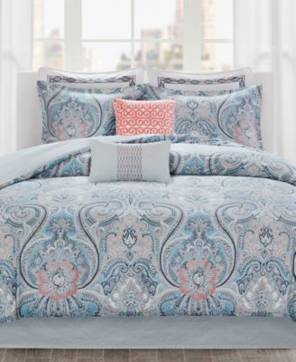 echo avalon cotton reversible 3pc king duvet cover set