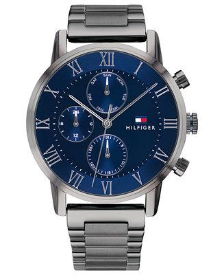 Tommy Hilfiger Men S Gunmetal Gray Bracelet Watch 44mm