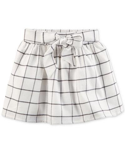 Carter's Windowpane Cotton Flannel Skirt, Little Girls & Big Girls