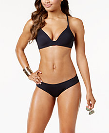 Vince Camuto Riviera Molded Bikini Top & Shirred Cheeky Bottoms