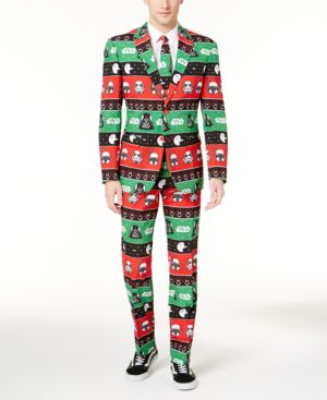 OppoSuits Men's Slim-Fit Festive Force Star Wars Suit and Tie thumbnail