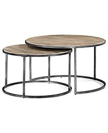 Monterey Coffee Table, Round Nesting