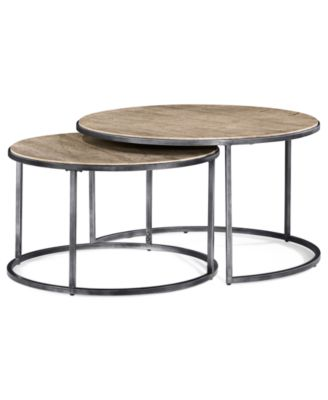 Monterey Coffee Table, Round Nesting