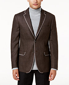 Tallia Men's Slim-Fit Brown Mélange Sport Coat