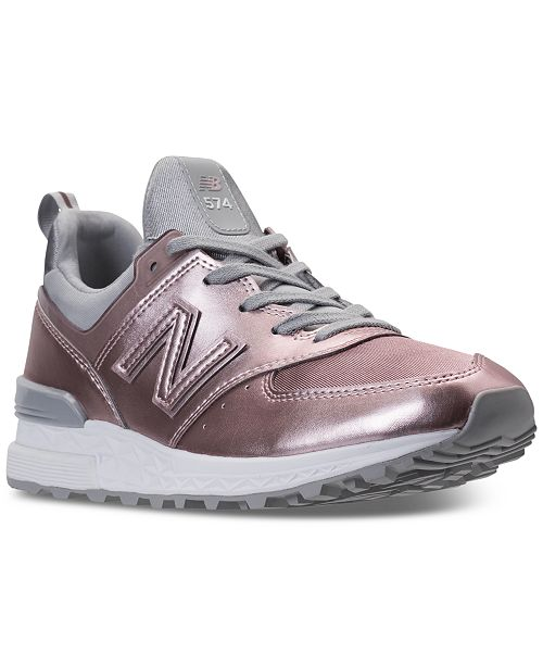 Tumba seno Gigante  New Balance Women's 574 Synthetic Casual Sneakers from Finish Line ...