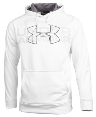 Under Armour Men's Armour Fleece Big Logo Hoodie - White