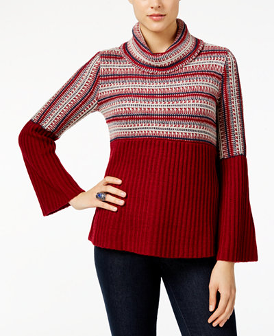 Style & Co Petite Turtleneck Babydoll Sweater, Created for Macy's