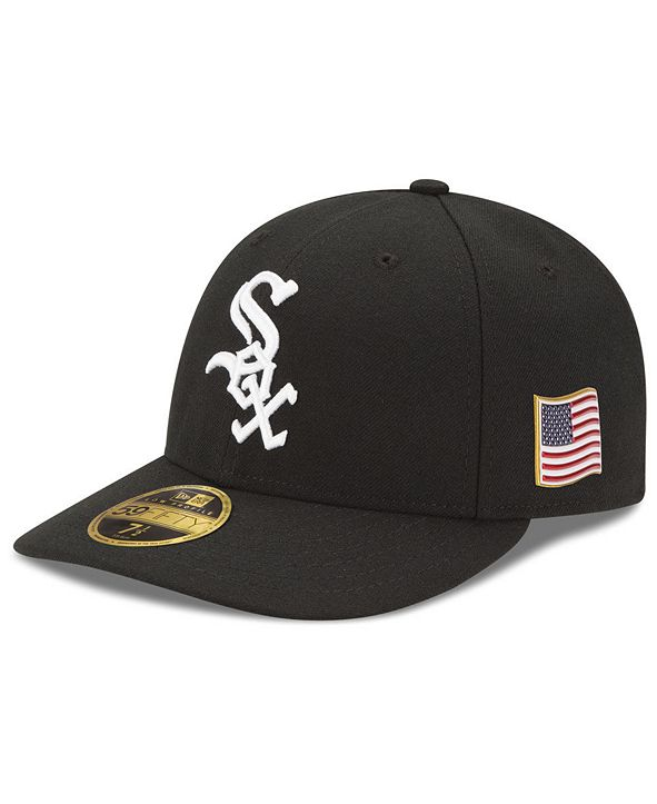 New Era Chicago White Sox Authentic Collection Low Profile 9-11 Patch 59FIFTY Fitted Cap