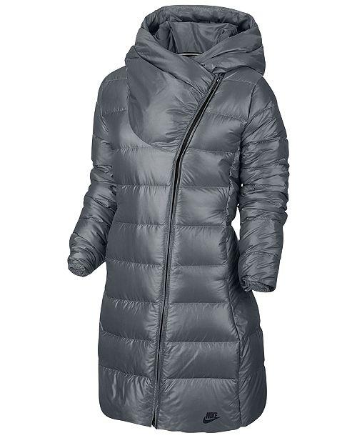 Nike Sportswear Puffer Coat   Reviews - Coats - Women - Macy s e1545aae9