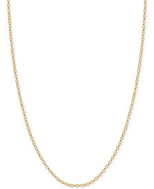 "20"" Flattened Link Chain Necklace (1-9/10mm) in 14k Gold"