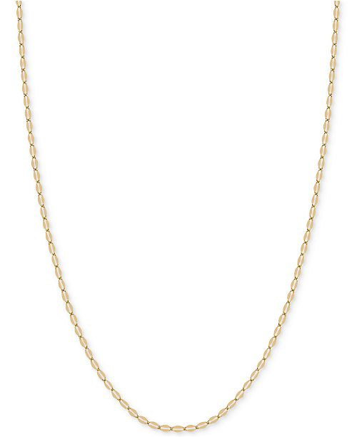 """Macy's 18"""" Flattened Link Chain Necklace in 14k Gold"""