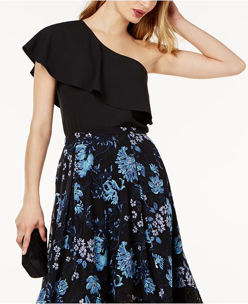 SB by One-Shoulder Ruffled Top, Created for Macy's