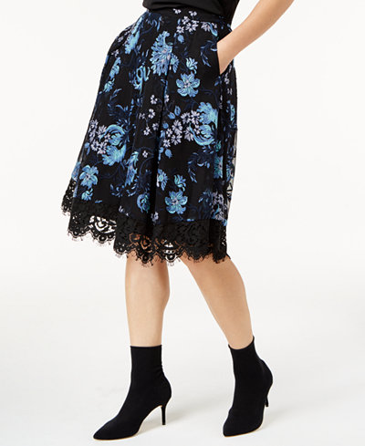SB by Sachin & Babi Embroidered A-Line Skirt, Created for Macy's