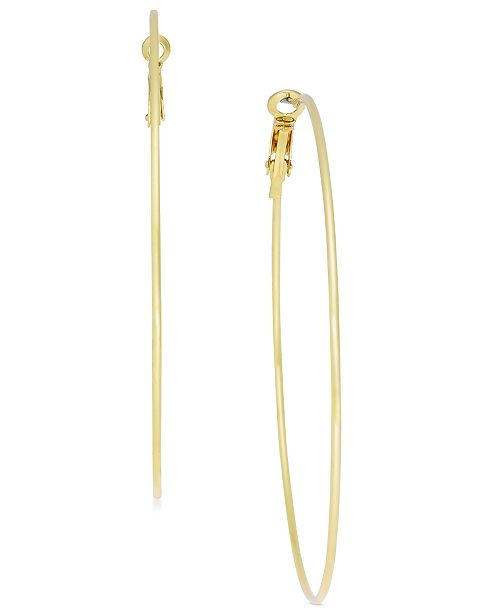 "INC International Concepts I.N.C. Extra Large 2.75"" Gold-Tone Skinny Hoop Earrings, Created for Macy's"