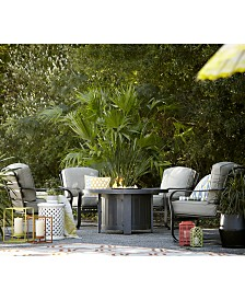 Marlough Wide Slat C-Spring Chair, with Sunbrella® Cushions, Created for Macy's