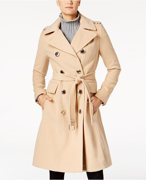 Calvin Klein Double-Breasted Trench Coat
