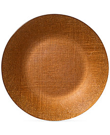 VIETRI Glitter Glass Copper Service Charger Plate