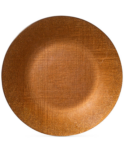 VIETRI Glitter Glass Copper Service Charger Plate