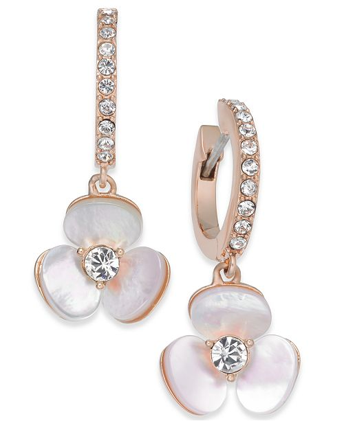 bdff301f4 Kate Spade New York 14k Rose Gold Plated Pavé Mother Of Pearl. Kate Spade  New York Imitation Pearl Drop Earrings